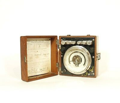 1910 Westinghouse Portable Single-Phase Wattmeter * Gleaming Nickel * Beautiful