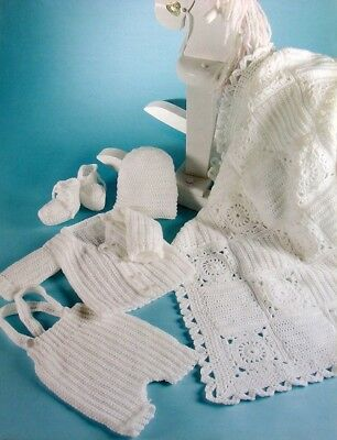 Crochet Pattern-Baby Girl//Boy Cardigan//Waistcoat and Hat PO371a 6sizes prem-12M