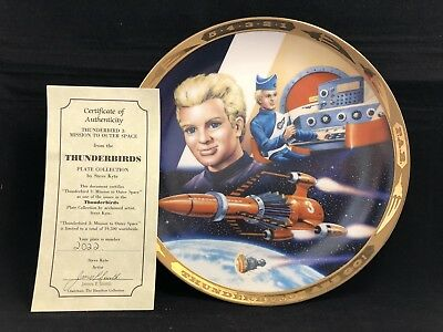 1993 Hamilton Kyte THUNDERBIRDS 3 MISSION TO OUTER SPACE TV PLATE 2022 Anderson