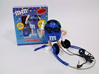 m&m's Blue Character Radio with Headphones Collector's Series NIB
