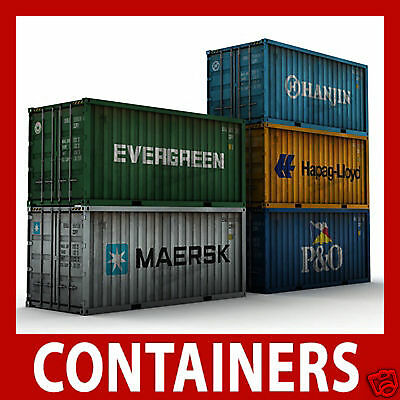 Z Gauge Shipping Container Model Card Kits Z Scale 1:220 x 12 Mixed 40ft / 45ft