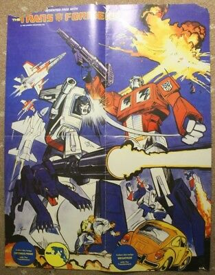 Transformers UK Comic Poster free gift from Issue 15, Optimus and Megatron
