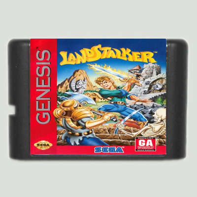 Landstalker 16 bit MD Game Card For Sega Mega Drive For Genesis