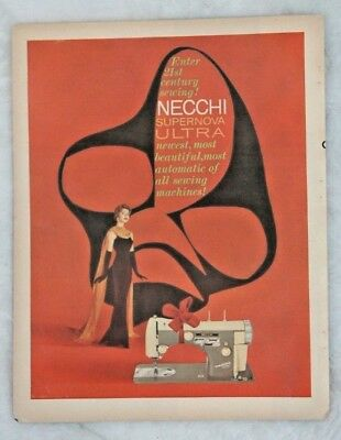 1959 NECCHI Supernova Ultra Sewing Machine Advertisement Vintage Ad
