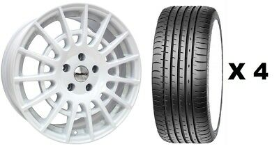 """20"""" White T Sport 1250Kg Alloy Wheels + Tyres Fits Ford Transit Xl Crew Cab"""