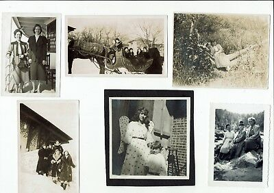 Lot of 10 antique and vintage real photos mostly peoples