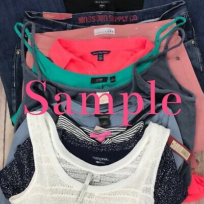 Mystery Random Women's Brand Name Clothing Reseller Bundle Lot Of 10 Pieces