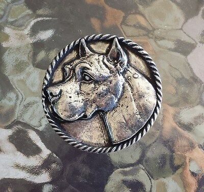 Family House Pet Purebred 1 Pit Bull Terrier Dog Pewter Pin. All New.