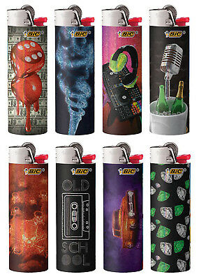 BIC Special Edition Hip Nation Series Lighters, 2019-2020, Set of 8 Lighters