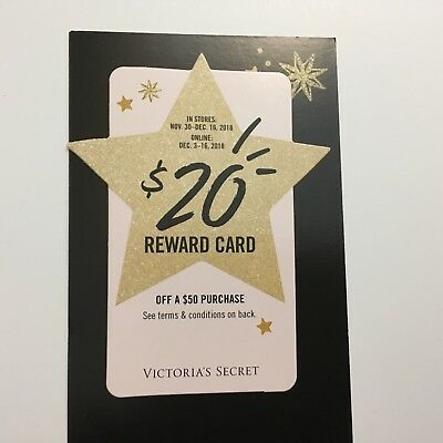 Victoria's Secret Pink $20 off $50 Holiday Reward Card Online & In store