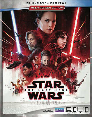 Star Wars: The Last Jedi (Blu-ray Disc, Includes Digital Copy) SlipCover New