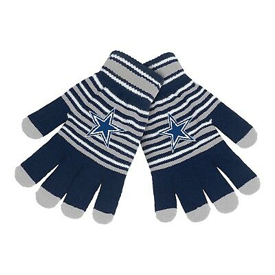 Dallas Cowboys Gloves Acrylic Stripe Knit Sports Logo Winter New Texting Tips