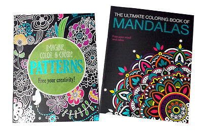 patterns mandalas adult coloring book designer series books set of 2 new