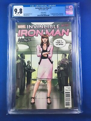 Invincible Iron Man #7 CGC 9.8 WP (Marvel 2016) Variant - 1st Riri Williams