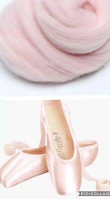 Ballet Pointe Shoe Lambs Wool Padding, Cushioning, Ouch Pouch Toe Pads PINK