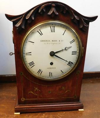 camerer cuss london brass inlaid mahogany fusee bracket clock