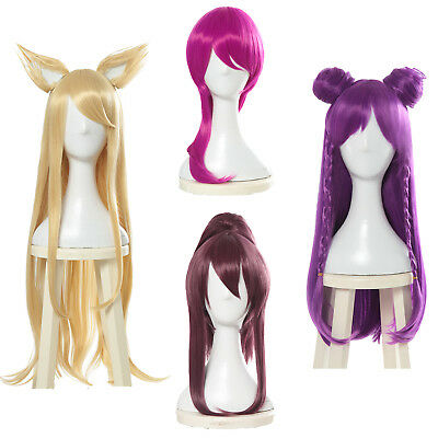 Game LOL League of Legends Ahri Akali Evelynn Kaisa Cosplay Wig KDA New Skin
