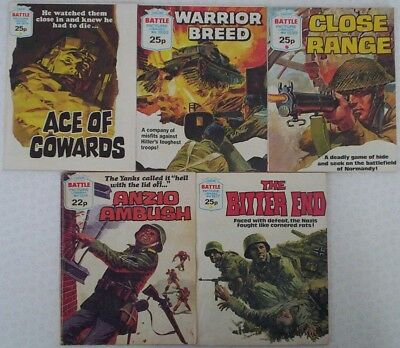 Dated 1982-83. FIVE x BATTLE PICTURE LIBRARY Comics #'s 1514 - 1599.