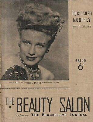 1944 THE BEAUTY SALON NSW QLD VIC Ladies Hairdressing WW2-Era Magazine SCARCE