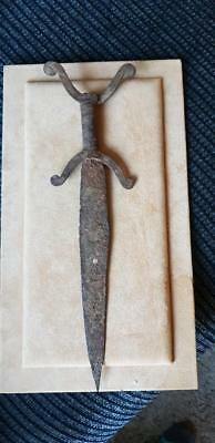 celtic/other iron  Sword/dagger with horned pommel 32cmm