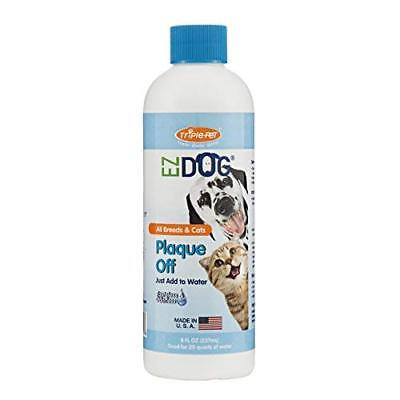 EZ Dog Plaque Off Fresh Breath Drinking Water Additive for Dogs and Cats
