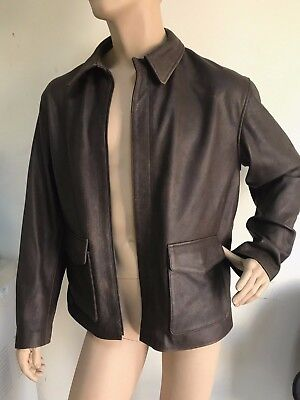 Distressed Leather Jacket w//Hat Indiana Jones Brown Adult Costume Accessory