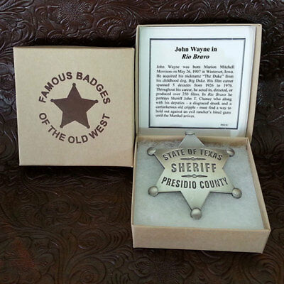 Presidio County Sheriff and True Grit- Two Badges-  The John Wayne Collection