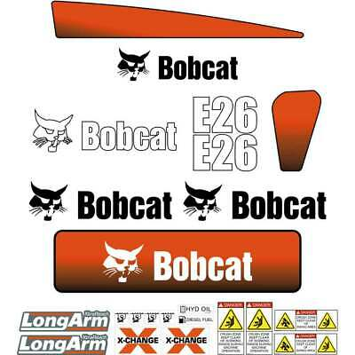 Bobcat E26 Later Series Decals - Repro Aftermarket Decals Kit