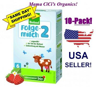 *FREE EXPEDITED SHIPPING!* Lebenswert Organic 10 BOXES Stage 2 Baby Milk Formula