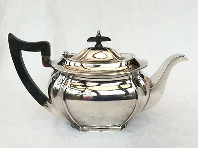 SOLID SILVER TEAPOT - J Round, Sheffield, 1934