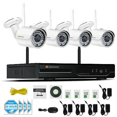 8CH 1080P Wifi NVR Wireless Security Camera System 4Pcs 960P HD IP Cam Home CCTV