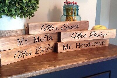 Personalized 250 Acrylic Glass Name Plate Bar Desk Teacher Gift