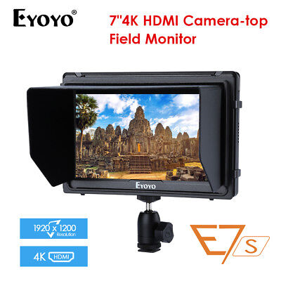 A7s Upgraded 7-inch 1920x1200 DSLR Mirrorless Camera Field Monitor MF HDMI Audio