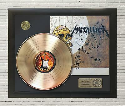 Metallica - One Framed Gold Lp Signature Display M4