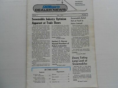 Snow Sports Dealer News snowmobile magazine July 1970 Buyers Guide 1971 sleds