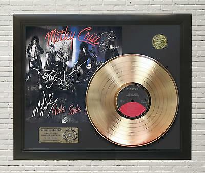 Motley Crue - Girls Girls Girls Framed Gold Lp Signature Display M4