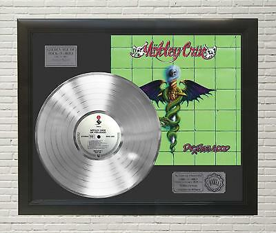 Motley Crue Dr Feel Good Framed Platinum LP Display C3