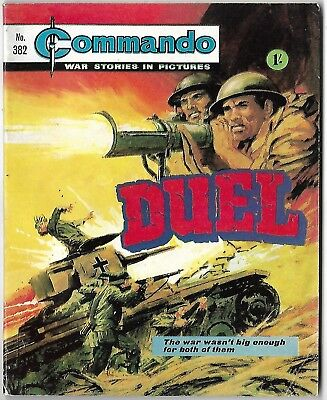 "Dated 1969. Vintage COMMANDO War Picture Comic # 382. ""Duel"""