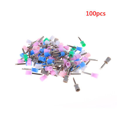 100 Pcs Dental Prophy Cup Rubber Polish Brush Polishing Tooth Latch Multicolours