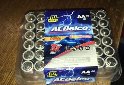ACDelco AA Batteries Alkaline Battery 48 Count New Sealed Exp 2028