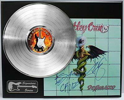 Motley Crue Platinum LP Record Signature Series Limited Edition Display