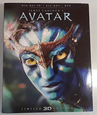 AVATAR Limited Edition Used 3D + 2D BLU-RAY Set w/ Slipcover ITALIAN IMPORT