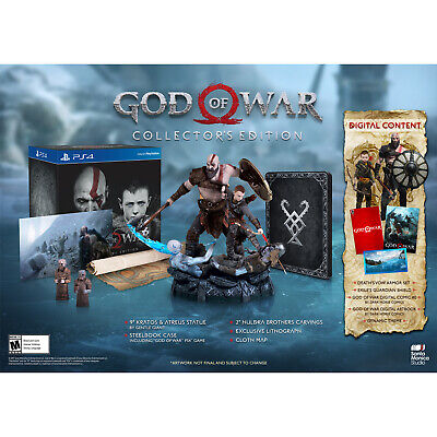 God of War Collector's Edition PS4 PlayStation 4 Brand New 3002350 711719512226