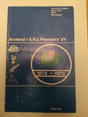 Scotland v SRU Presidents XV- 1973, Centenary Season