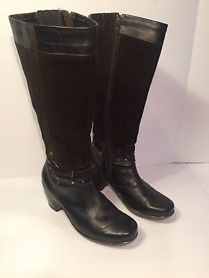 Naot Gratify Brown  Suede Leather Tall Zip Riding Boots Womens EU size 38 US 7