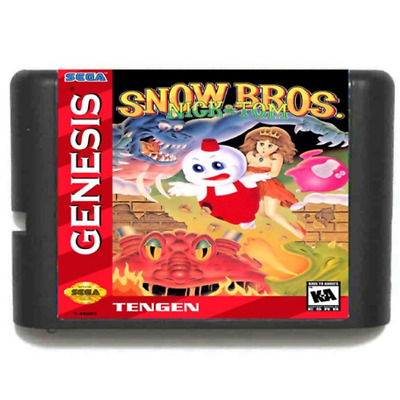 Snow Bros 16 bit SEGA MD Game Card For Sega Mega Drive For Genesis
