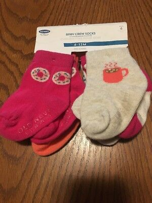 NWT Old Navy Baby Crew Socks 6-12 Month