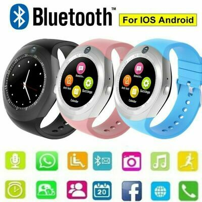Bluetooth Smart Watch Android Fitness Tracker Pedometer Sim Card iPhone Samsung