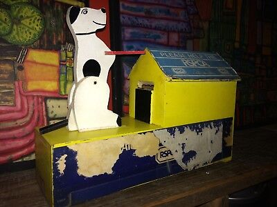 Rare Old Vintage Retro Wooden Charity Novelty Collection Box RSPCA