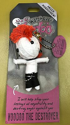 Voodoo Doll SCOUT /& ABOUT Watchover  Doll Brand New Key Chain String Doll